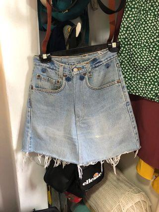 vintage levis A line denim skirt