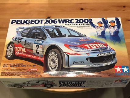 全新Tamiya 1/24 Peugeot 206 WRC