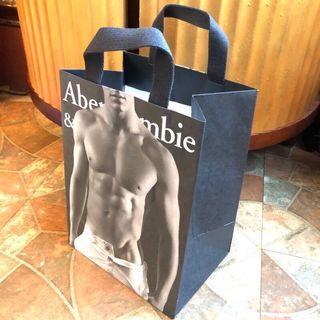 美國Abercrombie & Fitch Hollister猛男帥哥型男肌肉男招牌紙袋/手提袋/環保袋/購物袋/禮物袋
