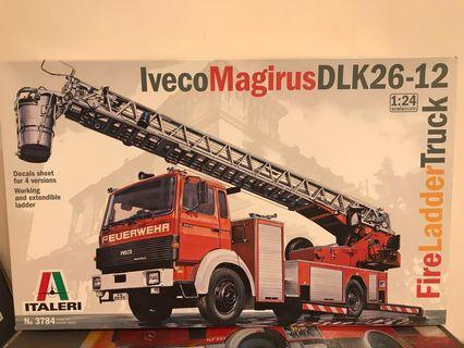 全新1/24 Italeri Iveco Magirus DLK 26-12 Fire Ladder Truck 消防鋼梯車