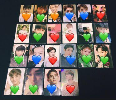 [WTS/READY STOCK] EXO OFFICIAL VARIOUS PHOTOCARD