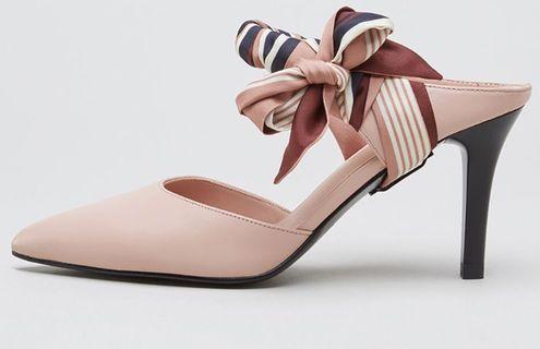 女神鞋 高跟鞋 heels 蝴蝶結絲帶