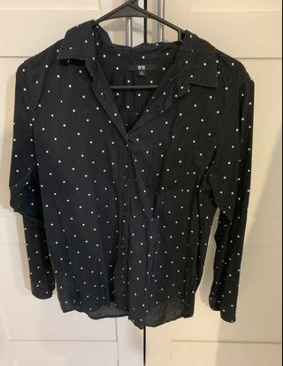 Uniqlo cotton blouse