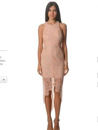 Lace high low bodycon midi dress (Bnwt)