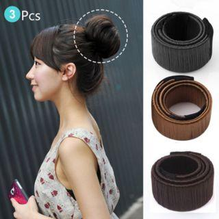 [NEW] 3Pc Fashion Hair Styling Donut Former Foam French Twist Magic DIY Tool Bun Maker