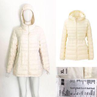 Uniqlo off white ultra light down coat / jacket (jaket ultralight bulu angsa)