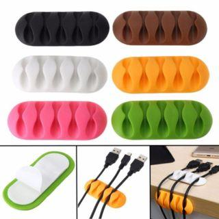 [NEW] Cable Reel Organizer Desktop Clip Cord Management Headphone Wire Holder