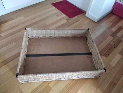 bed storage with wheels
