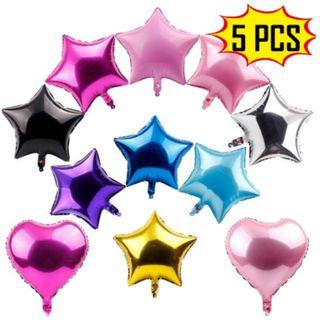 "[NEW] 5Pcs 18"" Foil Star Balloons Birthday Party Decor New"