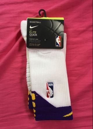 Nike Elite Quick NBA 湖人配色籃球襪