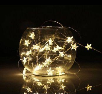 Star copper fairy lights