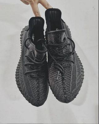 Adidas Yeezy Boost 350 V2 Black Static Non Reflective