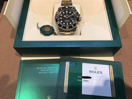 Rolex 126603 TT Sea Dweller Brand New Full Set