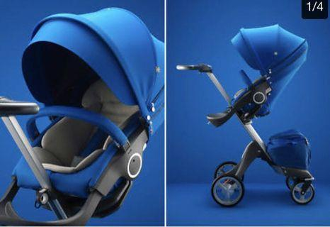 STOKKE® XPLORY™ V4 COBALT BLUE LIMITED EDITION (STROLLER) & Get Complimentary 2 Vouchers for Full Cleaning Service (under HappiKiddo HappyClean)