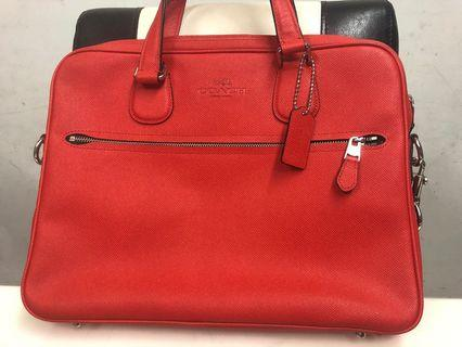 Coach Laptop Messnger Bag with embossed logo