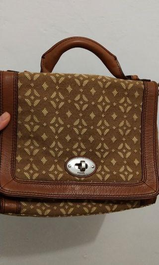 Like New Fossil Marlow signature flap full set key n LS