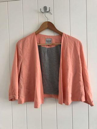 Peachy cropped cardigan