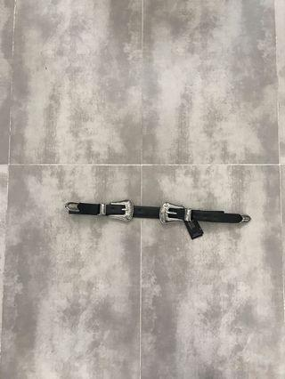 Brand new double buckle belt