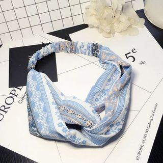 4-14 Beautiful Elastic Headband in Light Blue, Hair Band Turban