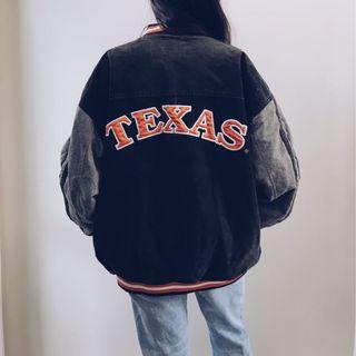 Vintage Texas Leather Bomber Jacket