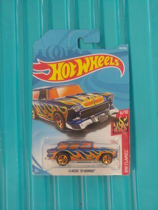 [暑假減價優惠]全新風火輪藍色福特老爺車 blue color hotwheels Chevrolet classic 55 nomad