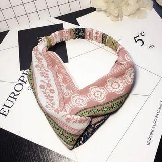4-17 Beautiful Elastic Headband in Pink, Headband, Hair Band Turban