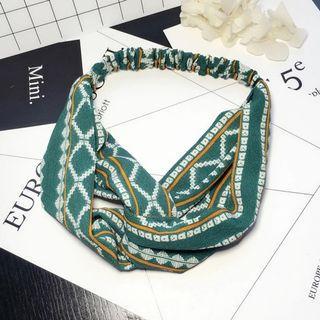 4-18 Beautiful Elastic Headband in Green, Headband, Hair Band Turban