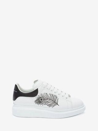 Alexander McQueen Feather Embroidery Oversized Sneaker