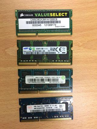 RAM Laptop - 8GB 4GB 2GB