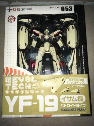 全新 日版 山口式 revoltech YF-19 VF 超時空要塞 飛機 機械人 revolver joint F 053 強化裝備 macross plus kaiyodo 海洋堂 可動 Gundam 高達模型 模型 Valkyrie 轉輪 關節 battroid mode robot魂 yamaguchi