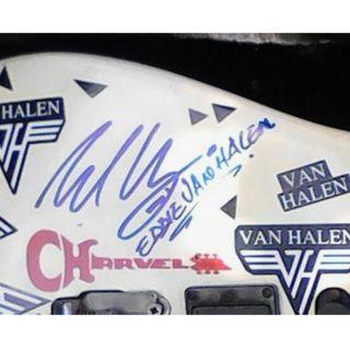 Van Halen autographed guitar