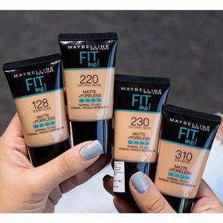 Original Maybelline Fit Me! Matte + poreless liquid foundation