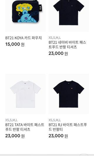 [PO/WTS] official bt21 shirts and key chains