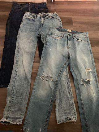 🚚 Assorted Jeans - Uniqlo, Pull & Bear, Res Denim
