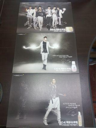 Set of 7 EXO posters - A4