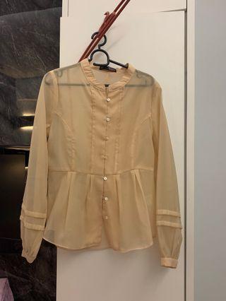 Dressing Paula Transparent Long Sleeve Blouse