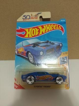 [暑假減價優惠]全新風火輪50週年藍色龐帝克火鳥 blue color hotwheels 50th pontiac firebird