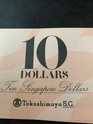 🚚 Takashimaya Vouchers $100
