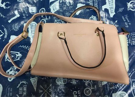 粉紅色手袋 韓國 OL 🈹$50
