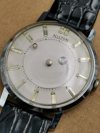 古董 60s Hilton Mystery dial 手上弦男裝手錶