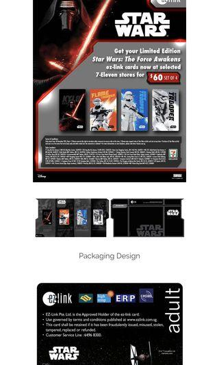 Star Wars First Order EZ Link Card Set of 4 sealed Price Reduced from $35