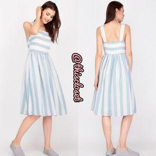 AFA Masie Striped Midi Dress