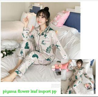 CL-EJJ SW Flower Leaf Cream Import,Bahan Kaos Import Tebal Sesuai foto (Realpic) Fit L