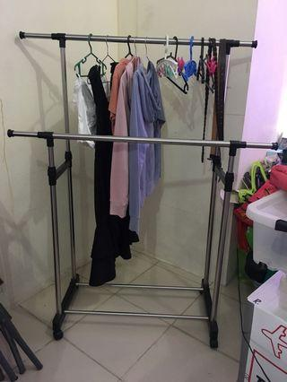 (NEGOTIABLE) Clothes Rack - double