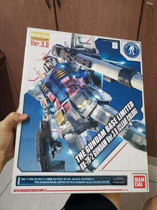 MG GUNDAM RX78-2 3.0 Clear Gundam Base Limited GFT