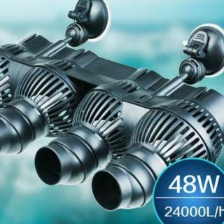 Sales !!! 6ft Tank Wavemaker !!! Clip On 4 HEAD Wave maker!!! Strong for 6ft tank !!! 24000litre/hr !!! Big coverage and ideal wavemaker for 6ft tank !!! Aquarium fish tank wavemaker pioneer !!! Sun sun brand!!