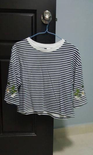 H&M stripe crop top