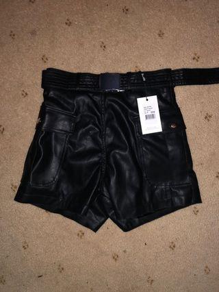 leather shorts size 6