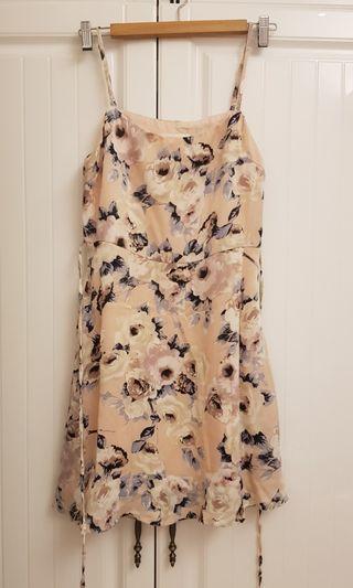 🚚 歐美油畫風格吊帶小洋裝