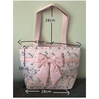 NaRaYa Fabric Cotton 365 Pink Cute Cat Neko Prints Medium Shoulder Handbag
